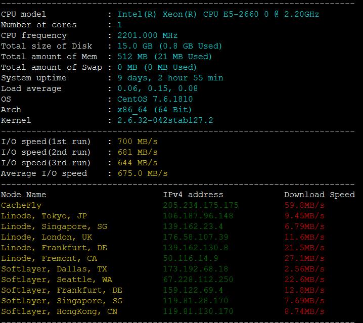 #脚本#Linux VPS 常用测试脚本 – 包含硬件信息、网速、延迟、路由-2
