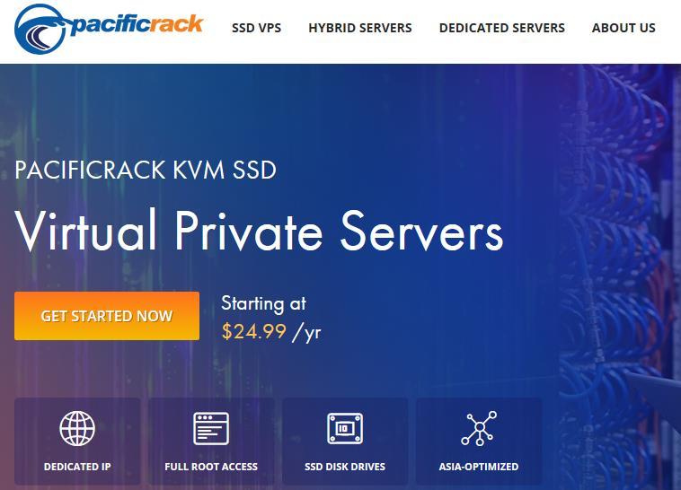 PacificRack六月便宜美国vps闪购 1核512M内存$6.99元/年,3核2G仅$18.99/年!-主机饭